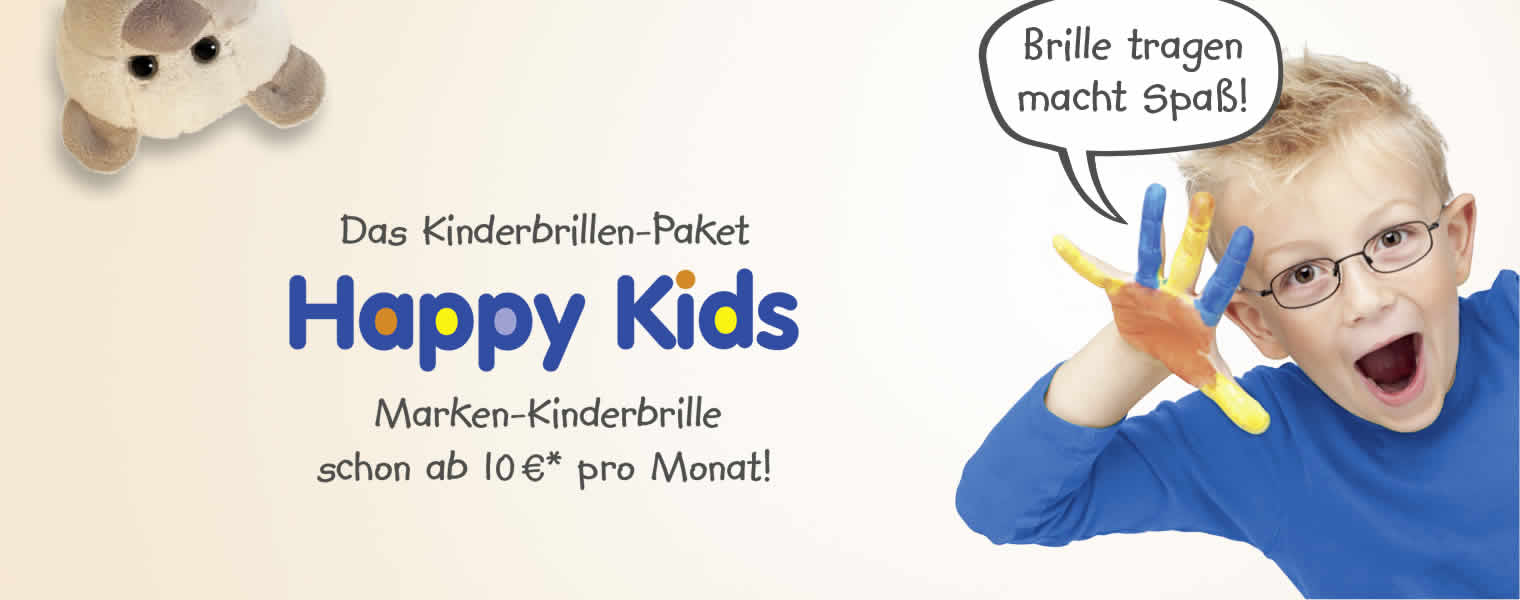 Happy Kids - Das Kinderbrillen-Abo bei Ihrem Optiker